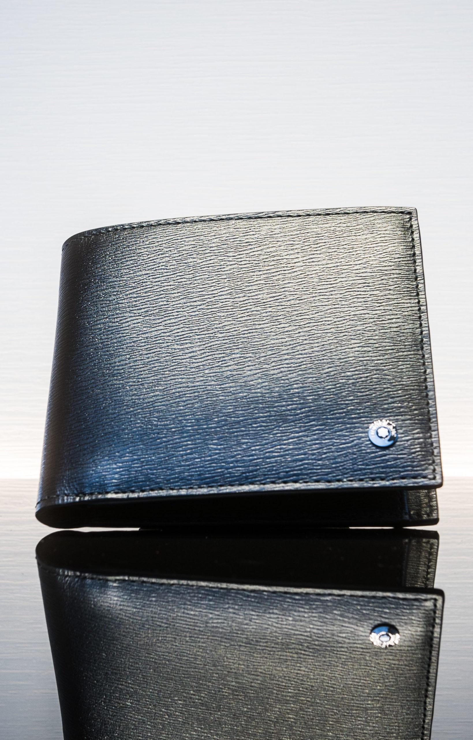 Montblanc  Brieftasche 4 Cc Mit Münzfach Schwarz/grau