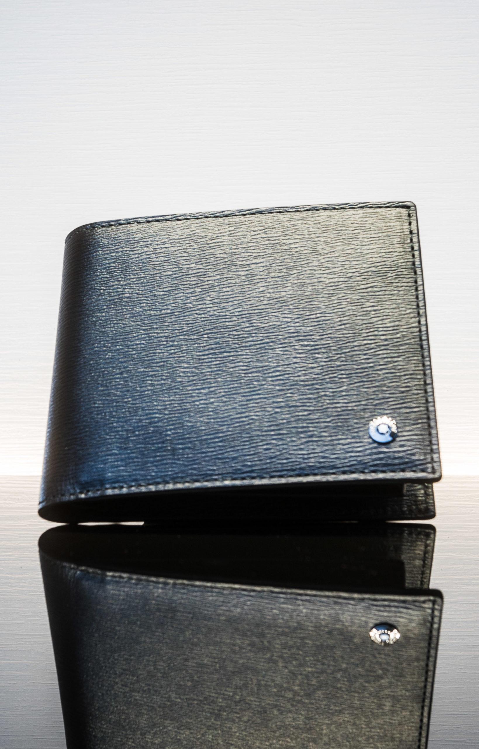 Montblanc Brieftasche 11 cc mit Sichtfach schwarz/grau